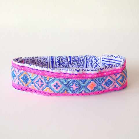 blue head band