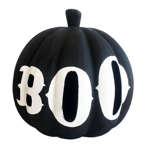 black boo pumpkin