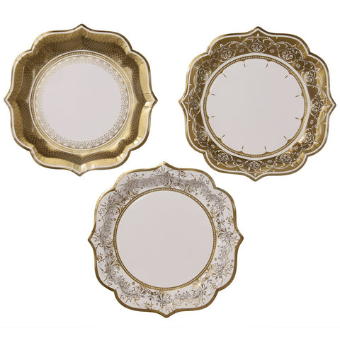 gold large porcelain plates