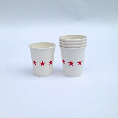 red star paper cups