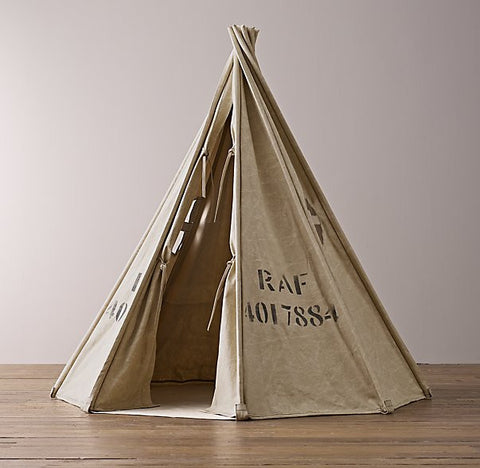 distressed canvas surplus tent