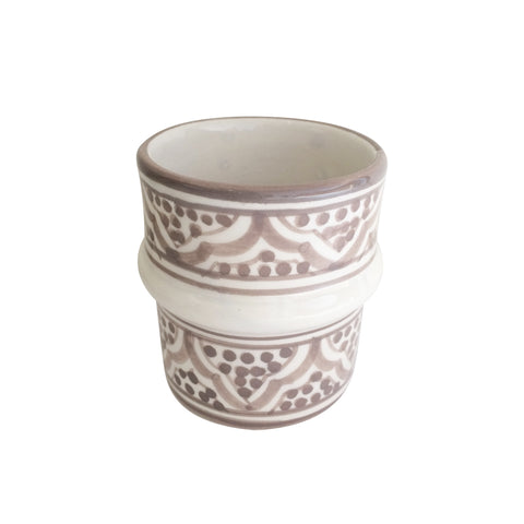 handpainted ceramic tea cup - taupe