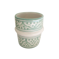 handpainted ceramic tea cup - celadon