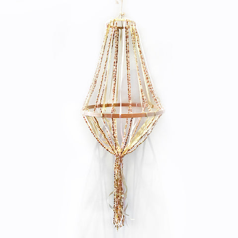 bead and ribbon chandelier