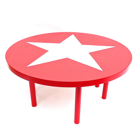 round painted circus table