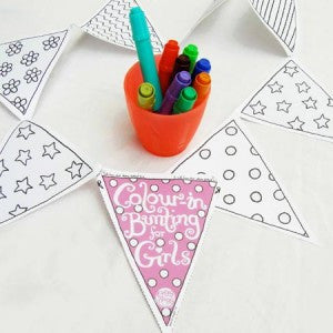 color in bunting for girls
