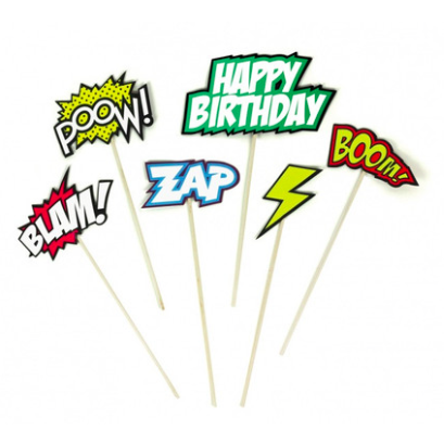 comics cake toppers