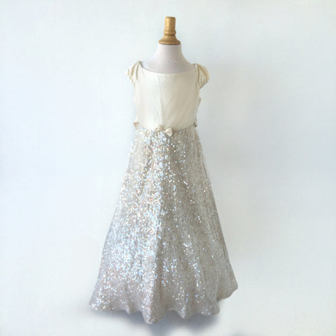 silver sparkling sequin dress