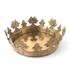 large gold crown container