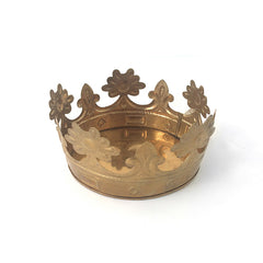 small gold crown container