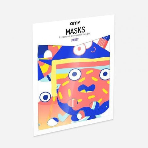 coloring masks party