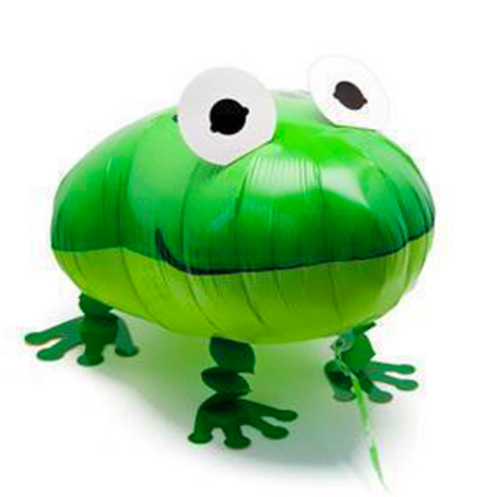 frog walking balloon