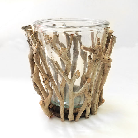 large glass vase with branches