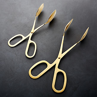 gold tongs