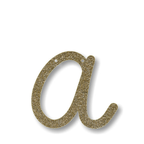 gold acrylic bunting letter