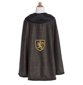 knight cape black and gold