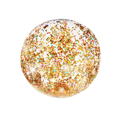 gold glitter beach ball