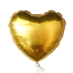 gold mylar heart balloon