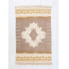 mirrored medallion printed rug