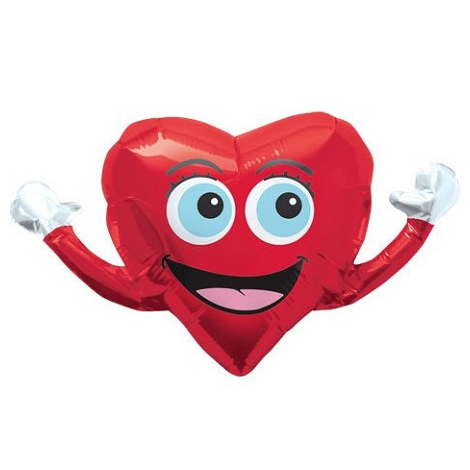 happy hands mylar balloon - 14 inches