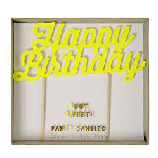 happy birthday candle - yellow