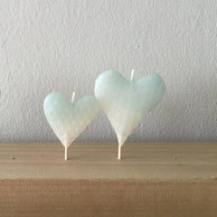 aqua heart candle set