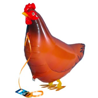 hen walking balloon
