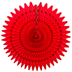 21'' honeycomb fan - red