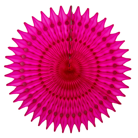 21'' honeycomb fan - super pink