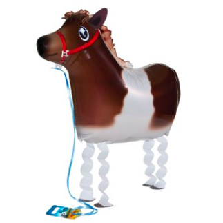 horse walking balloon