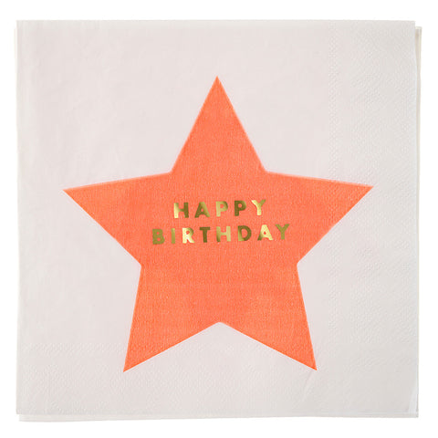 stars happy birthday large napkins