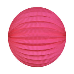 electric pink accordion paper lantern