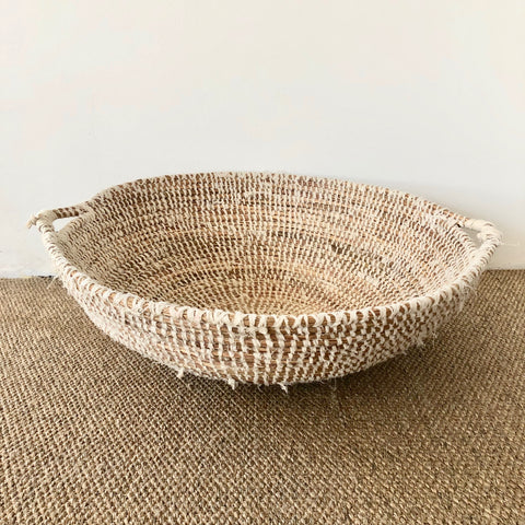 woven basket with handles large