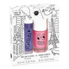 lovely city nail polish and lip gloss rolette duo
