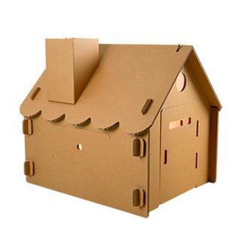 traditional mini cardboard house