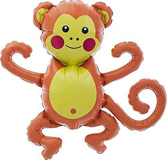 mini monkey mylar balloon - 14 inches