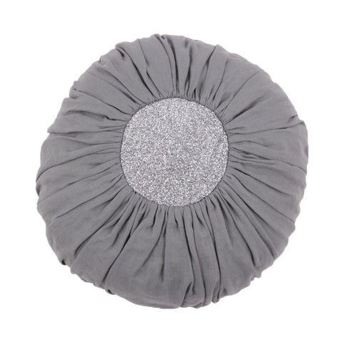 large dark grey ball cushion / glitter anthracite