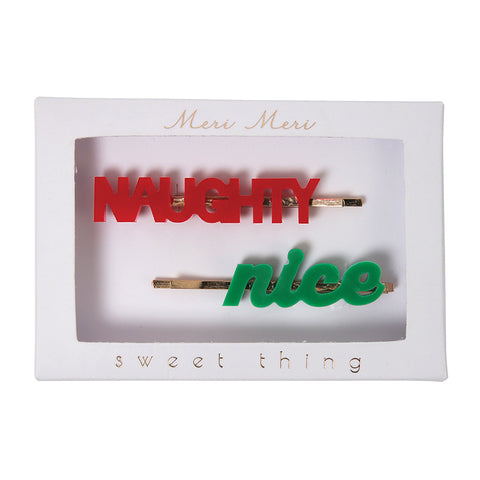naughty and nice hair pins