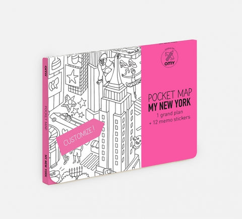 coloring pocket map - new york
