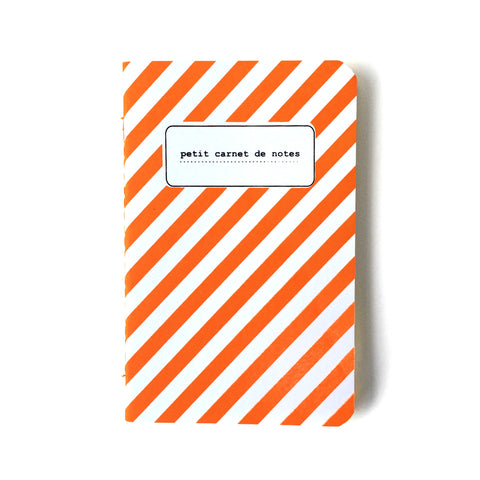 small orange fluo stripe notebook