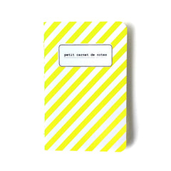 small yellow fluo stripe notebook