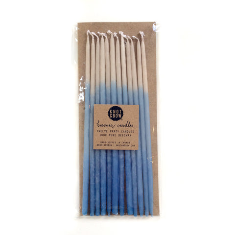 ombre candles - blue