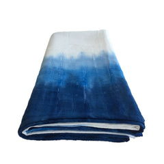 indigo ombre tablecloth