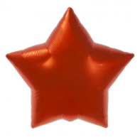 orange star mylar balloon - 22''