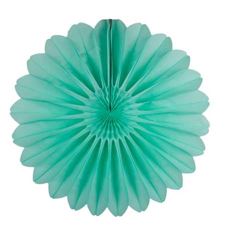 28'' paper fan - frosted mint