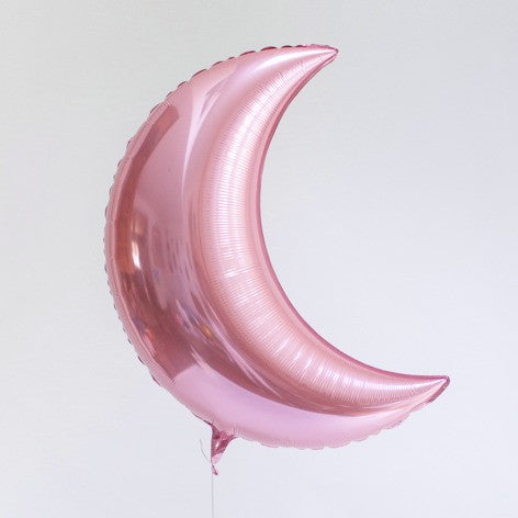 crescent moon balloon - pearl pink
