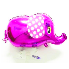 pink elephant walking balloon