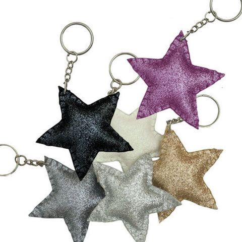 Star keychain sparkly black