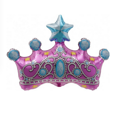 princess crown mylar balloon - 14 inches