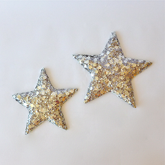 silver sequin star